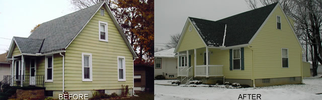 before and after home makeover